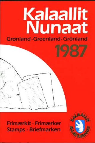 Greenland  Official Year Set 1987  (Post Office Sealed)