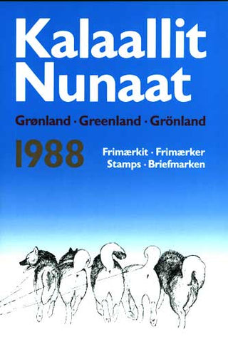 Greenland  Official Year Set 1988  (Post Office Sealed)
