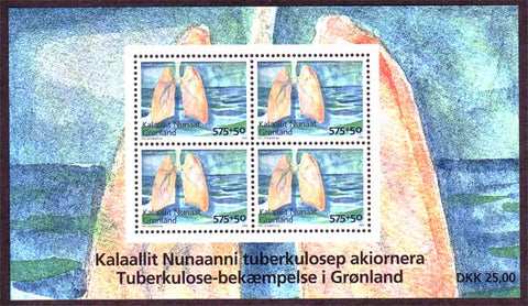 GRB0033a1 Greenland Scott # B33a VF MNH, Fight Against Tuberculosis 2008