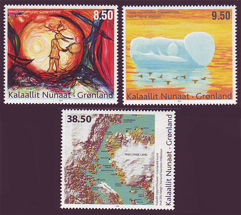 GR0611-13 Greenland  Scott # 611-13 MNH, Contemporary Art 2012