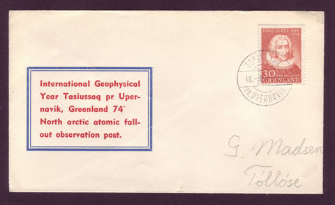GR5019 Greenland Letter to Denmark from the High Arctic 1958