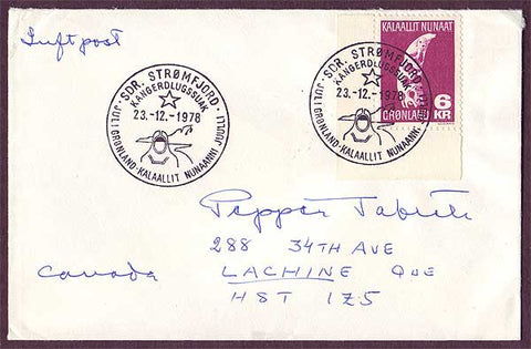 GR5028PH Greenland Airmail Letter to Canada 1978
