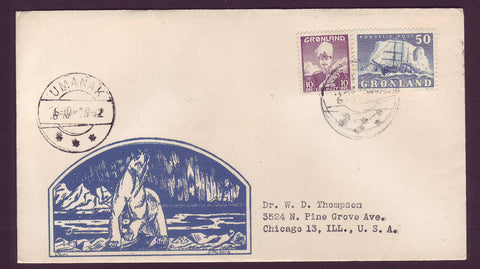 GR501.3 Greenland Letter to USA, Postmarked Umanak 22.11.1952.