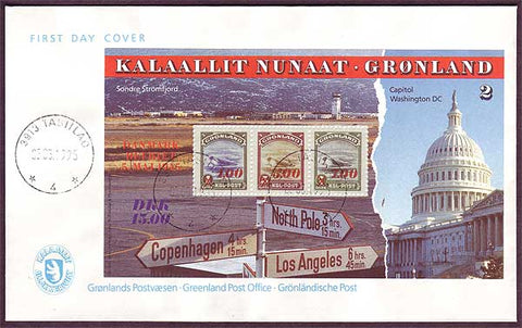 GR5031PH Greenland FDC, American Issue Commemorative 1995