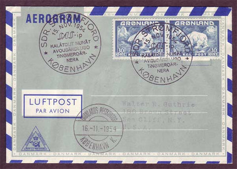 GR5035PH Greenland S.A.S. First Flight Cover