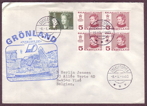 GR5046 Greenland, Letter to Belgium 1983