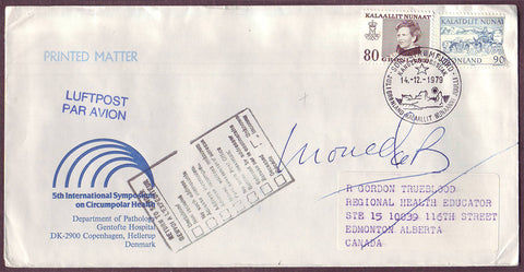 GR5048 Greenland,  Airmail letter to Canada, Returned to Sender 1979