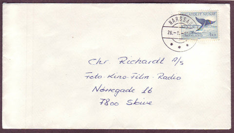 GR5050 Greenland Correct rate for letter to Denmark 1977