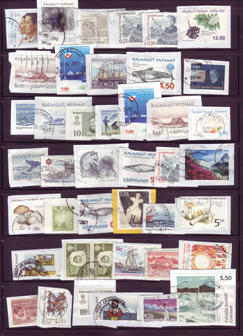 GR0555 Greenland Modern Mix on Paper - 41 Different Stamps