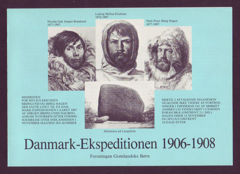 Danish Expedition to Greenland 1906-08, Souvenir Sheet and Stamps