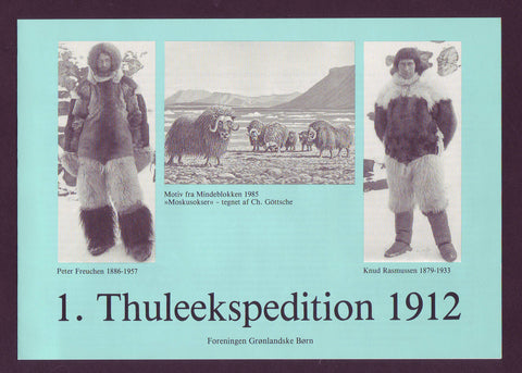 aThe Thule Expedition to Greenland 1912, Souvenir Sheet and Stamps 1985
