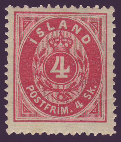 IC0002 Iceland Scott # 2 F-VF  LH OG 1873