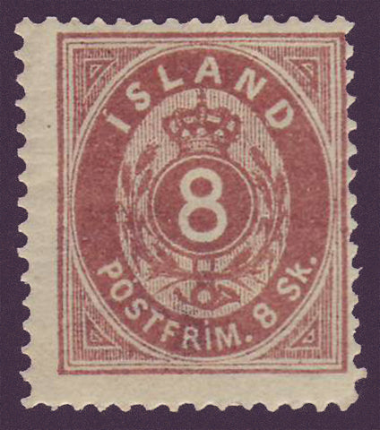 IC00032 Iceland Scott # 3 MH HR 1873