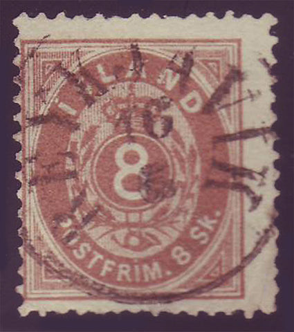 IC00035 Iceland Scott # 3 used with certificate, 1873