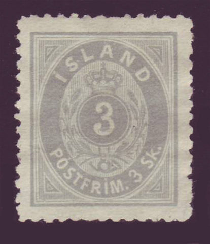IC0005NG Iceland Scott # 5 Unused NG.  3sk 1873