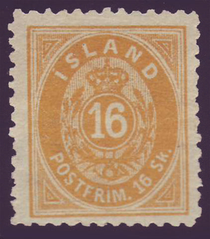 IC00072 Iceland Scott # 7 unused (NG no gum)