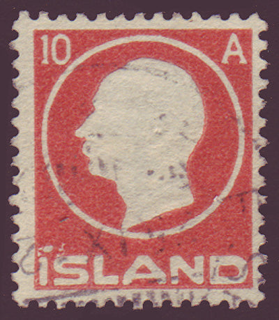 IC00935 Iceland Scott # 93 VF Used, Frederik VIII 1912