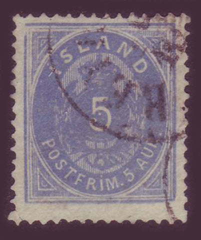 IC00095 Iceland Scott # 9  Used 1876
