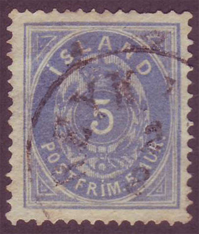 IC00095 Iceland Scott # 9 VF used  1876