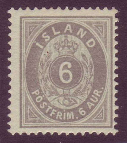 IC00102 Iceland Scott # 10 VF MLH 1876