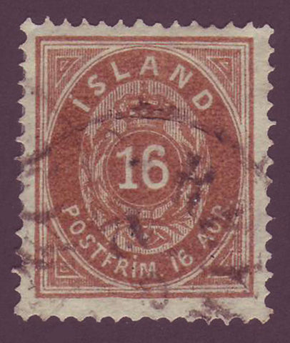 IC00125 Iceland Scott # 12 VF Used 1876