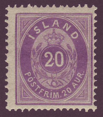 IC00131 Iceland Scott # 13 MNH  1876