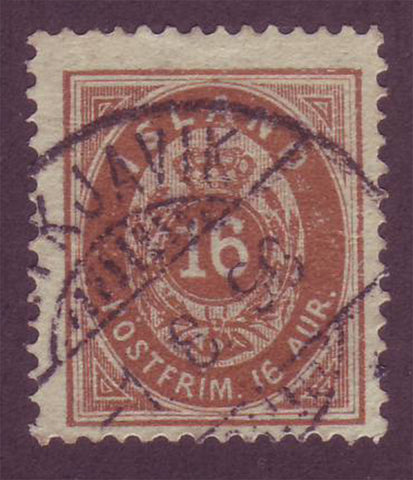 IC00275 Iceland Scott # 27 VF Used 1896