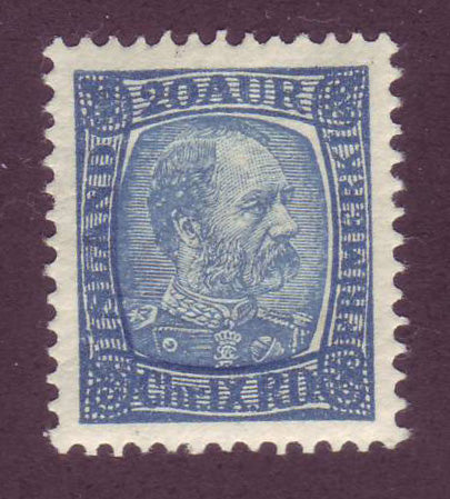 IC00401 Iceland Scott # 40 VF MH Christian IX 1902