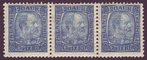 3IC0040var1 Iceland Scott # 40 + 40a + 40  VF MNH** Christian IX 1902