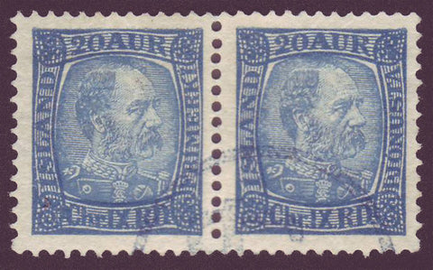 IC0040var5 Iceland Scott # 40 + 40a  pair  VF used, Christian IX 1902