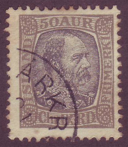 IC0043 Iceland Scott # 43 used, Christian IX 1902