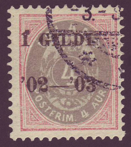 IC00515 Iceland Scott # 51 used 1902-03 overprint