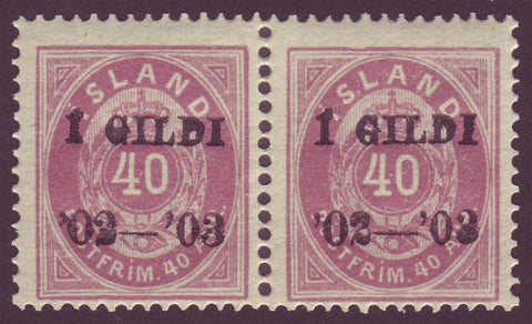 IC0066x21 Iceland Scott # 66 MNH** 1902-03 overprint