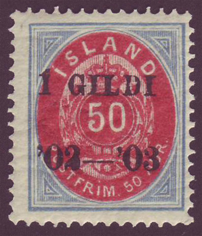 IC0067 Iceland Scott # 67 MNH** 1902-03 overprint