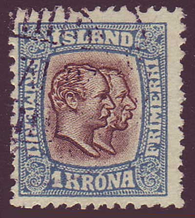 IC00835 Iceland Scott # 83 F-VF, Two Kings 1907