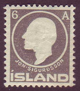 IC00892 Iceland Scott # 89 VF MH 1911, Jon Sigurdsson 1911