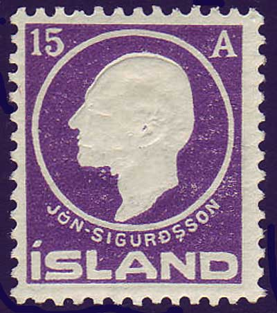 IC00902 Iceland Scott # 90 MH 1911, Jon Sigurdsson 1911