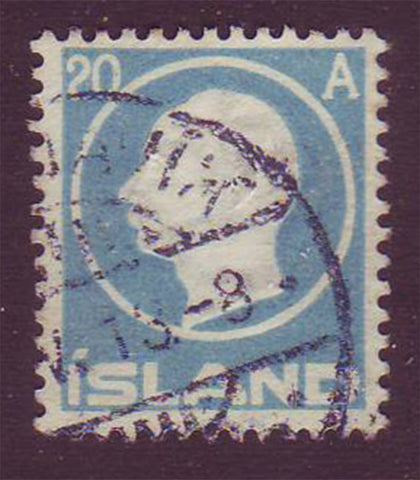IC00945 Iceland Scott # 94 VF Used, Frederik VIII 1912