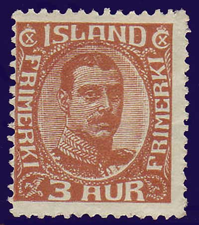 IC01091 Iceland Scott # 109 F MNH**, Christian X 1920