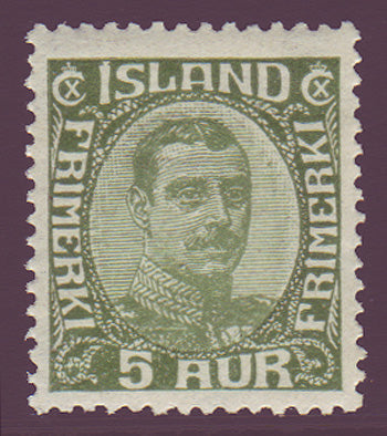 IC01111 Iceland Scott # 111 MNH**, Christian X 1920