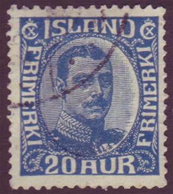 IC01182 Iceland Scott # 118 VF MH, Christian X 1920