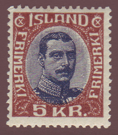 IC0128.11 Iceland Scott # 128 F-VF MH, Christian X 1921