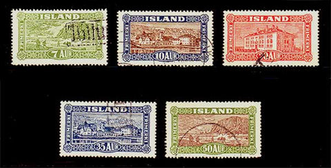 IC0144-485 Iceland Scott #s 144-48 VF Used