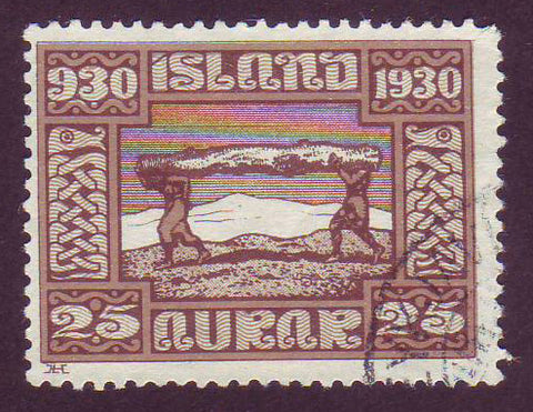 IC01585 Iceland Scott # 158 VF Used, Parliamentary Issue 1930