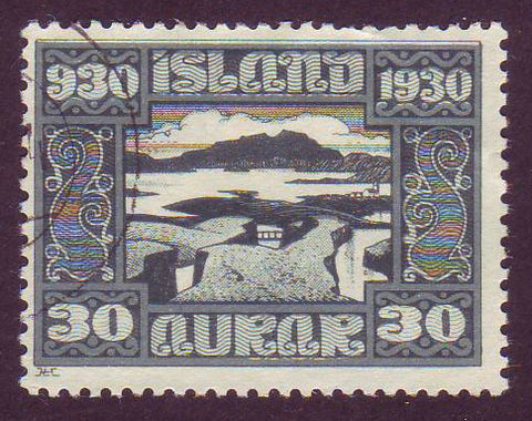 IC01595 Iceland Scott # 159 VF Used, Parliament Issue 1930