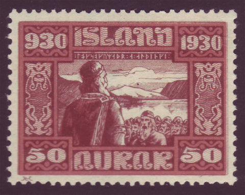 IC0162 Iceland Scott # 162 MNH. Parliamentary Issue 1930