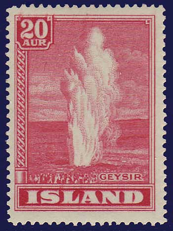 IC02042 Iceland Scott # 204 VF MH, Geyser 1938-47