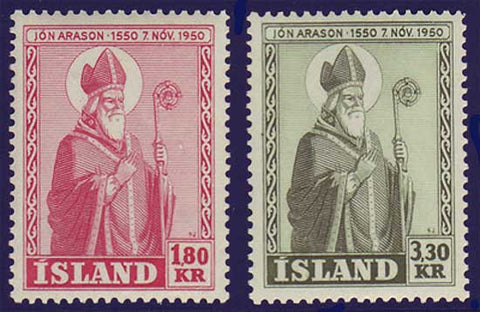 IC0269-701 Iceland Scott # 269-71  VF MNH**, Bishop Jon Arason 1950