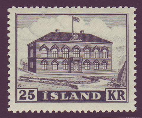 IC02731WJ Iceland Scott # 273 VF MNH**, 25kr Parliament Building 1952