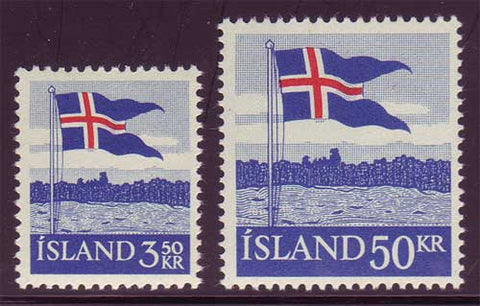 IC0313-141 Iceland Scott # 313-14 MNH, Icelandic Flag  1958